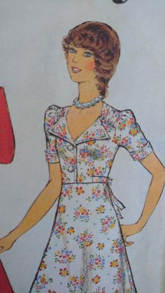 OOH LA LA 70s glam- Style 4738 - elegant dress- portrait neckline- b34 cut pattern 1970s does 1940s by StarletPatterns on Etsy