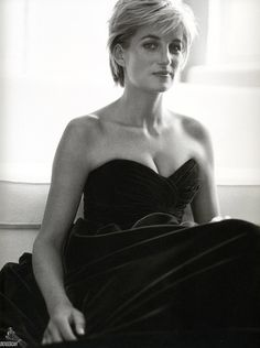 """Princess Diana, photographed by Mario Testino, 1997. """"I knew what my job was; it was to go out and meet the people and love them."""" . . . """"Carry out a random act of kindness, with no expectation of reward, safe in the knowledge that one day someone might do the same for you."""""""