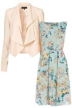 A cute vintage press + a gorgeous blazer = the perfect summer wedding