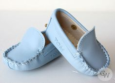Christening Wardrobe - Blue Moccasin by Le Petit Tom, $44.99 (http://www.christeningwardrobe.com/blue-moccasin-by-le-petit-tom/)