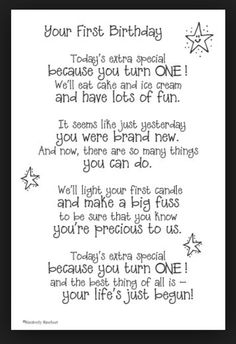 Your First Birthday Poem <3