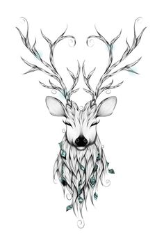 ✿ Tattoos ✿ Celtic ✿ Norse ✿ Poetic Deer Art Print