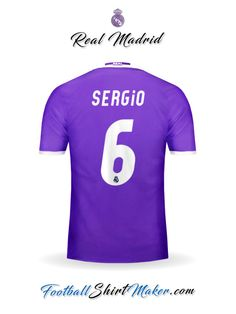 94f1c2babfa Camiseta Real Madrid CF 2016 2017 Visita Sergio 6