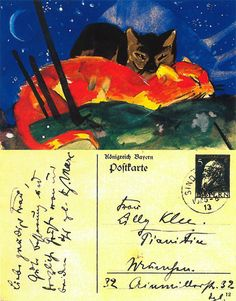 Postcard from Franz Marc to Lily Klee , 1913