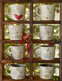 A Cup Of Sentiment Mugs - Handmade, hand-painted, wheel-thrown mugs with inspiring message.
