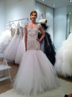 Marchesa dropped waist bridal market 2013 Girls Dresses, Flower Girl Dresses, Long Dresses, Dream Wedding Dresses, Wedding Gowns, Marchesa Bridal, Lesbian Wedding, Here Comes The Bride, Bridal Style