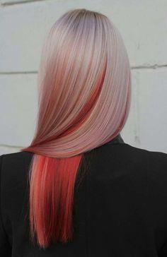 35 Cute And Crazy Hair Color Ideas For Long Hairs - Bafbouf Hair Streaks, Hair Highlights, Hair Color Dark, Cool Hair Color, Grey Balayage, Hair Dye Colors, Aesthetic Hair, Grunge Hair, Gorgeous Hair