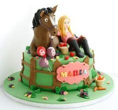 BakerByte Girl and Horse Cake