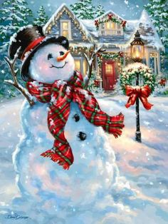 1563 – An Old Fashioned Christmas. Christmas Scenes, Christmas Mood, Christmas Snowman, Christmas Crafts, Christmas Decorations, Vintage Christmas Images, Christmas Pictures, Christmas Clipart, Christmas Printables