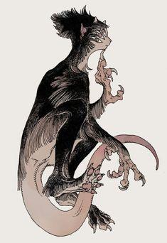 Monster Design, Monster Art, Fantasy Creatures, Mythical Creatures, Dark Fantasy, Fantasy Art, Dorm Art, Creature Concept, Ink Illustrations
