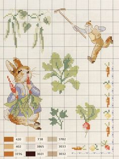 point de croix - beatrix potter