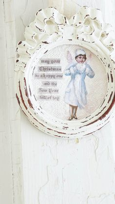 Make a Shabby Christmas Angel Ornament - White Lace Cottage