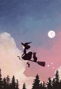 wallpaper, witch, and art image
