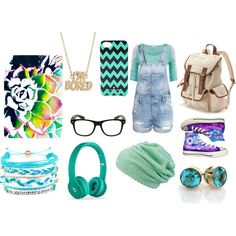 Dorky by lovebugemma64 on Polyvore featuring H&M, Converse, Candie's, MARC BY MARC JACOBS, Domo Beads and Kate Spade