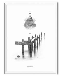 Silent Beach illusion - A3 poster - Another Poster Shop