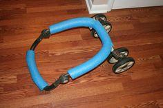 DIY kayak carts (from a stroller)