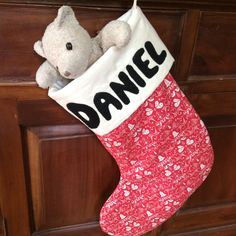 PERSONALISED Christmas Stockings, Made To Order, Quality Padded and Lined, 45cm Long by AeviternalCreations on Etsy