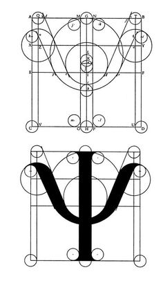 The Greek Character Psi Graphic Design Print, Type Design, Logo Design, Roman Alphabet, Greek Alphabet, Typography Quotes, Typography Design, Lettering, Greek Letter Psi