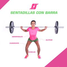 #training #sentadillas #barra #women #sports #indumentariadeportiva Train, Gym, Projects, Sportswear, Squats, Crunches, Barbell, Exercises, Log Projects