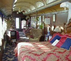 """Train Car Bed & Breakfast  """"Whistle Stop""""  New York Mills, MN... Stay in the Palace train car!"""