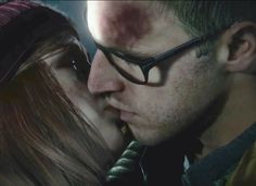 Chris and Ashley. From until dawn! My picture, and edit (Schrödinger's ship.)