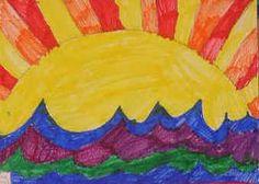 lämpimät ja kylmät värit (auringonnousu)