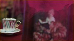 Tall cup and saucer, Voyage en Ikat. #HermesHome #VoyageenIkat