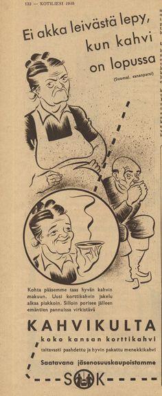 Mainos: Kahvikulta, 1949