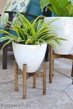 West Elm inspired wooden plant stands                                                                                                                                                                                 More
