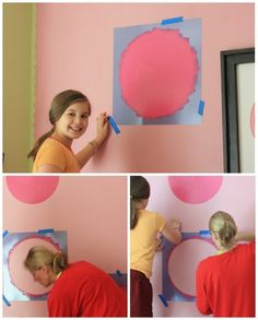 Painting with chalk board paint Loving Our Chalk Board Paint. Great idea for playroom (maybe not the pink for the boys!).