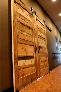 Sliding Barn Doors - contemporary - interior doors - other metro - Reclaimed Lumber Products Reclaimed Wood Door, Wood Barn Door, Wooden Doors, Reclaimed Lumber, Pallet Wood, Contemporary Interior Doors, Interior Barn Doors, Modern Interior, Exterior Doors