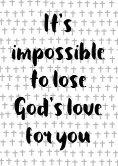 God's Love Christian Wall Art Scripture Print Nursery Art Bible Verse Printable Bible Love Quote Grace Instant Download Encouragement Cross #ad
