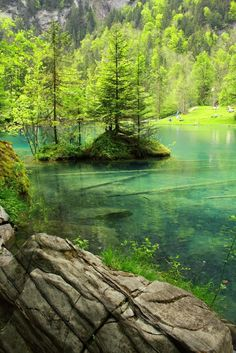 Blue Lake, Kandersteg, Switzerland: