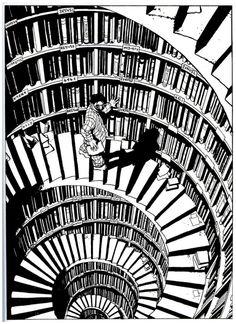 Marc-Antoine Mathieu - Le processus007 Comic Books Art, Comic Art, Book Art, Marc Antoine Mathieu, Arte Emo, Graphic Novel Art, Bd Comics, Black And White Illustration, Grafik Design