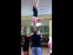 Awesome Cheer stunt- flat back! - YouTube Easy Cheer Stunts, Cheerleading Videos, Cheer Jumps, High School Cheerleading, Amazing Cheer Stunts, Cheer Coaches, Cheer Mom, Cheer Stuff, Cheer Pyramids