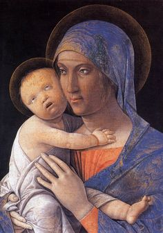 MANTEGNA, Andrea Italian Early Renaissance (ca.1431-1506)_Virgin and Child 1480-95