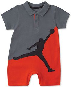 Jordan Baby Boys' Polo Romper - Kids Baby Boy (0-24 months) - Macy's