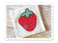 Strawberry Applique for machine embroidery