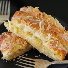 Almond Coconut Pastry Braid: a crisp, golden, buttery, almond coconut masterpiece that's so simple to make.