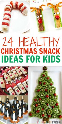 24 Cute & Healthy Christmas Snacks for Kids 10 Healthy Christmas Snacks that are perfect for your child's school party, or any festive occasion this holiday season. No sugar in these healthy Christmas snacks your little ones will love. Christmas Party Snacks, Healthy Christmas Treats, School Christmas Party, Xmas Food, Snacks Für Party, Christmas Cooking, Christmas Goodies, Holiday Treats, Christmas Fun