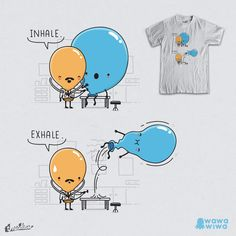 Inhale, exhale by Andres Colmenares on Threadless
