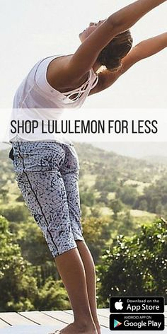 Practice yoga every day with brand new gear! Shop Lululemon, Athleta, Nike, and much much more at up to 70% off. Click to install the FREE app today!
