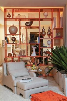Check out shelving concepts and solutions in our Bay Location garage shelving gallery. Call for a totally free estimate Room Divider Shelves, Living Room Divider, Diy Room Divider, Interior Design Living Room, Living Room Decor, Divider Ideas, Small Space Interior Design, Interior Design Boards, Room Deviders
