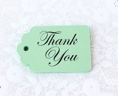 Hey, I found this really awesome Etsy listing at https://www.etsy.com/listing/185798007/mint-green-thank-you-tag-25-thank-you