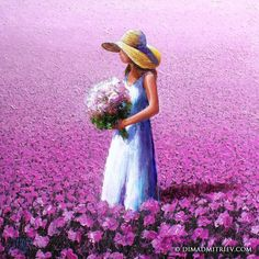 Rose - Painting,  100x100x2 cm ©2014 por DIMA DMITRIEV -  Pintura
