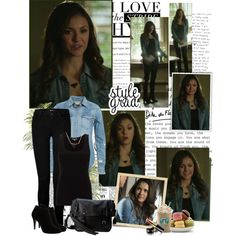 Elena Gilbert - 6x19 by iced on Polyvore featuring Jigsaw, Denim & Supply by Ralph Lauren, J Brand, Karen Millen, Frye, Chanel, Magdalena and Sonia Rykiel