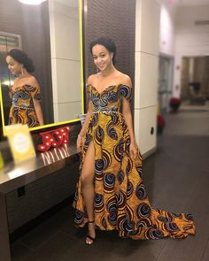 The complete collection of Exotic Ankara Gown Styles for beautiful ladies in Nigeria. These are the ideal ankara gowns African Fashion Designers, African Inspired Fashion, African Print Fashion, Africa Fashion, African Prints, Long African Dresses, Dresses Short, African Fashion Dresses, Fashion Outfits