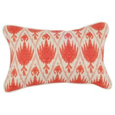 I pinned this Tulips Ikat Lumbar Pillow in Paprika from the Signature Pillows event at Joss and Main!