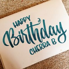hand lettering Happy Birthday - Google Search