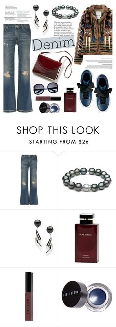 """Distressed Denim"" by pearlparadise ❤ liked on Polyvore featuring R13, Anja, Dolce & Gabbana Fragrance, Bobbi Brown Cosmetics, women's clothing, women, female, woman, misses and juniors"